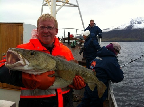 Captain Freyr with a cod